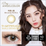 AngelColor 1day ワールドブラウンリッチ(10枚入り)